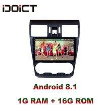 IDOICT Android 9.1 lecteur DVD de voiture GPS Navigation multimédia pour SUBARU Forester Radio 2012-2014 autoradio wifi