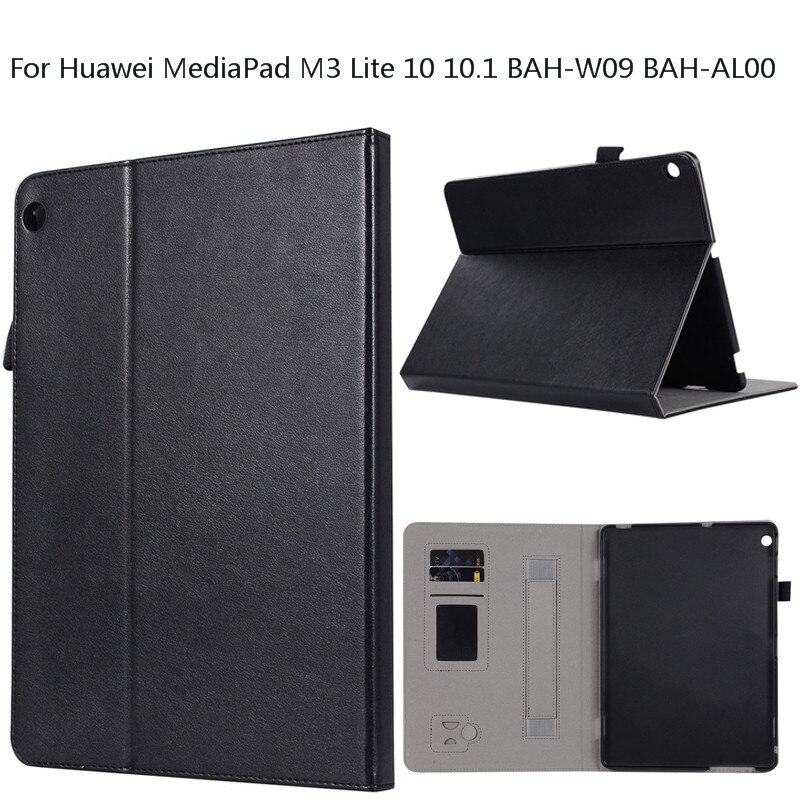 11.11 Hot Sale Black Business Tablet PC Capa Para Para Huawei MediaPad Lite 10.1 BAH-W09 M3 10 BAH-AL00 Caso Flexível tampa do suporte