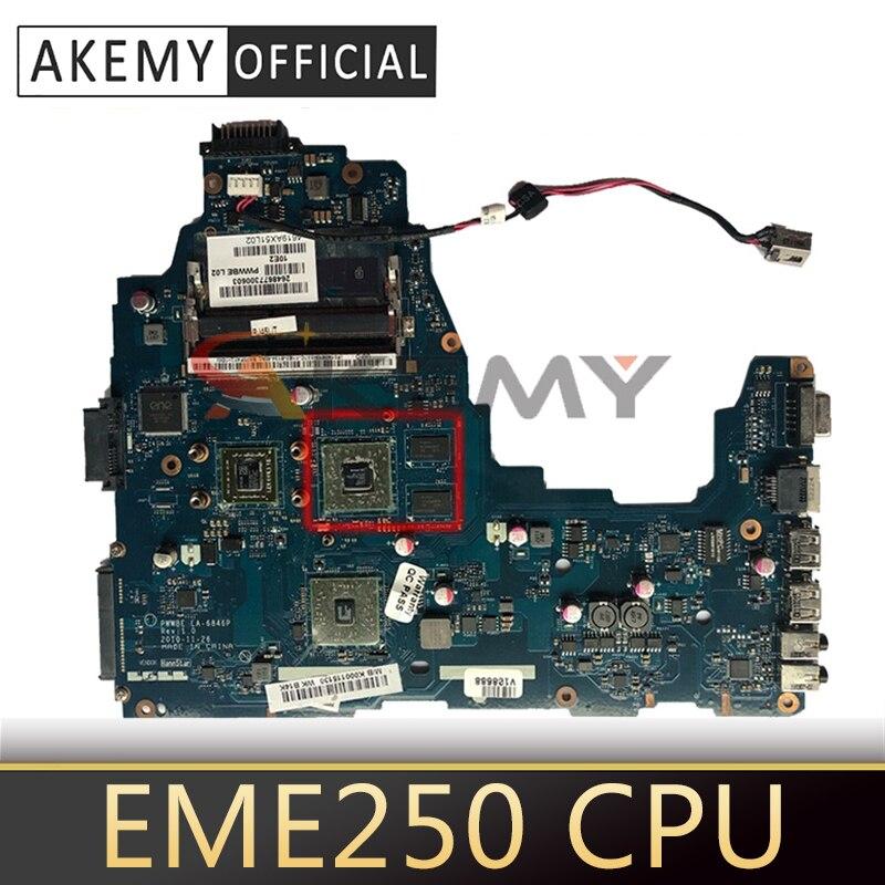 AKEMY PWWBE LA-6846P Rev 2.0 K000124450 اللوحة الأم للكمبيوتر المحمول توشيبا الأقمار الصناعية C660 C660D EME250 CPU DDR3 اللوحة الرئيسية