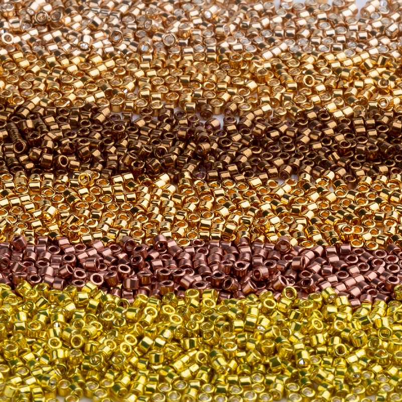 Cuenta De semilla Taidian miyuki delica 11/0 para Broderie De perlas, DB1-40 1,6x1,3 MM blanco opaco, aproximadamente 1000 piezas