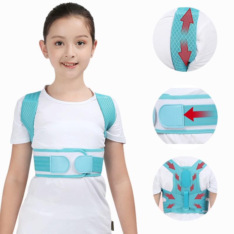 Double-support Children Posture Orthosis Adjustable Shoulder Orthosis Back Spine Support Posture Belt Kid Corset Health Care
