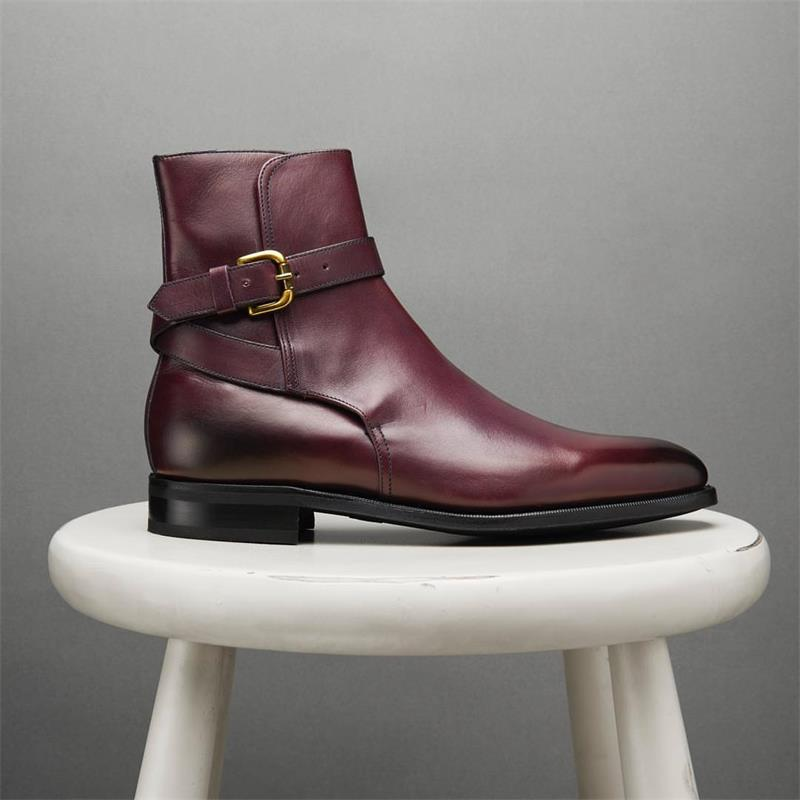 Winter Fashion British Men Top Quality PU Leather Slip on Boots Breathable Chelsea Boots Male Casual Zapatos De Hombre HA935