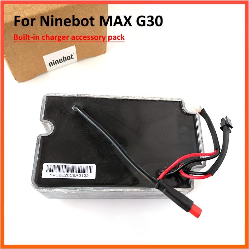شاحن مدمج يناسب Ninebot Max G30 G30D KickScooter, سكوتر كهربائي ، ملحقات الطاقة ، لوح التزلج