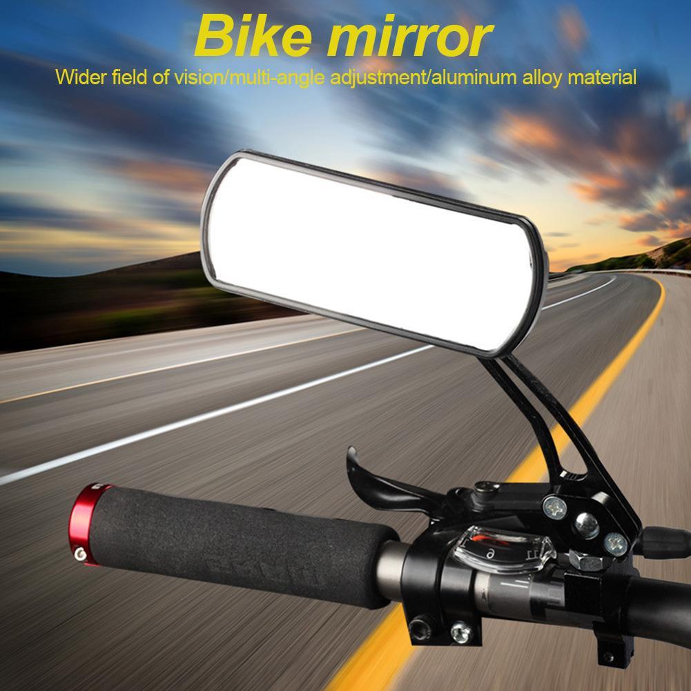 Espejo retrovisor para bicicleta de montaña, espejo con patrón de carbono para bicicleta, Modelo 3K modificado, equipo para montar en espejo retrovisor plano