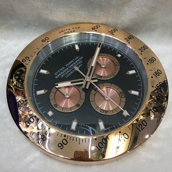 Luxury Silent Wall Clock Modern Design Gold Large Wall Watch Home Stainless Steel Calendar Luminous Gift with LOGO Klok Gift L12