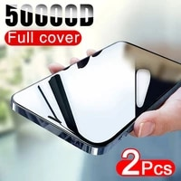 50000d 2pcs full cover screen protector for iphone 12 11 pro x xr xs max tempered glass on iphone 6s 7 8 plus 12 mini glass film