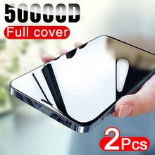 50000D 2PCS Full Cover Screen Protector For iphone 12 11 Pro X XR XS MAX Tempered Glass On iphone 6s