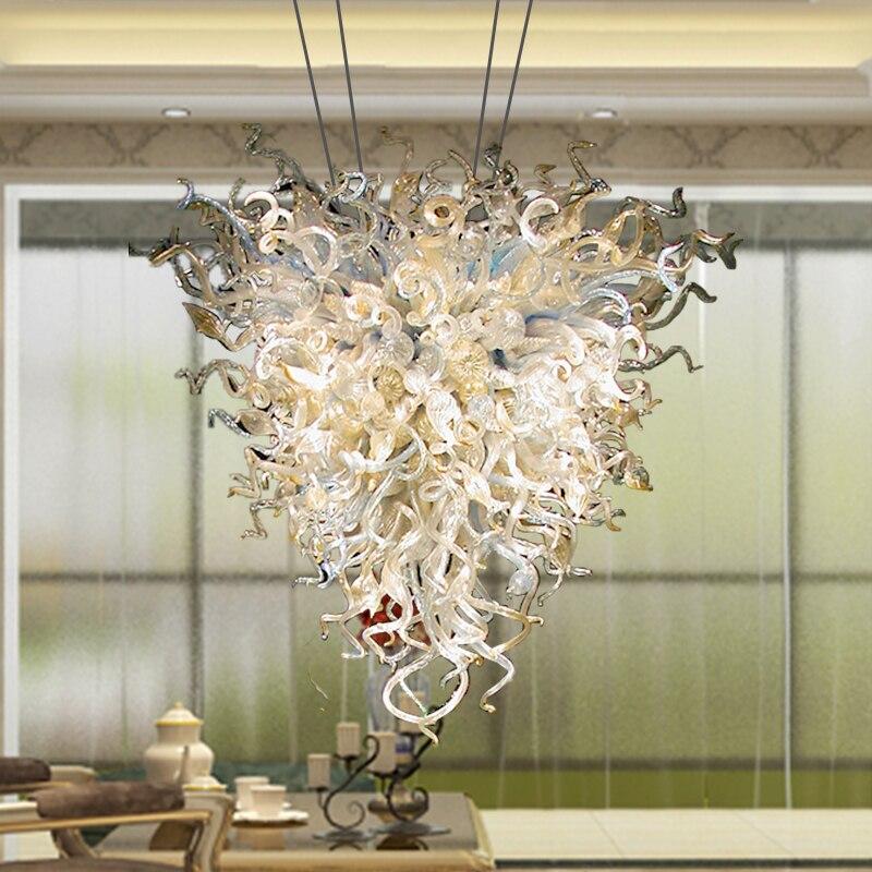 المعاصرة قلادة أضواء مصباح الثريات مع LED لمبات الزجاج الثريا إضاءة داخلية