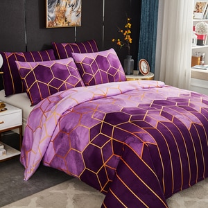 Geometry Nordic Bed Cover 150 Double Bed Linen 2 People Euro Bedding Set Luxury Plaid Duvet Cover Set Gothic Twin Queen King