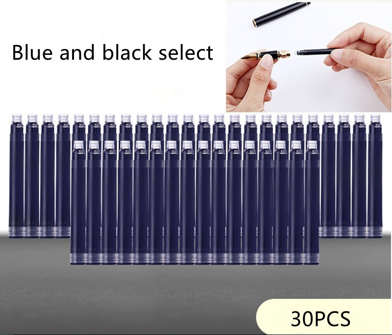 Фото - 30pcs plastic Smooth Writing Fountain Pen Ink Refill School Student Stationery Office Supplies 2 Colors rescue ink rescue ink