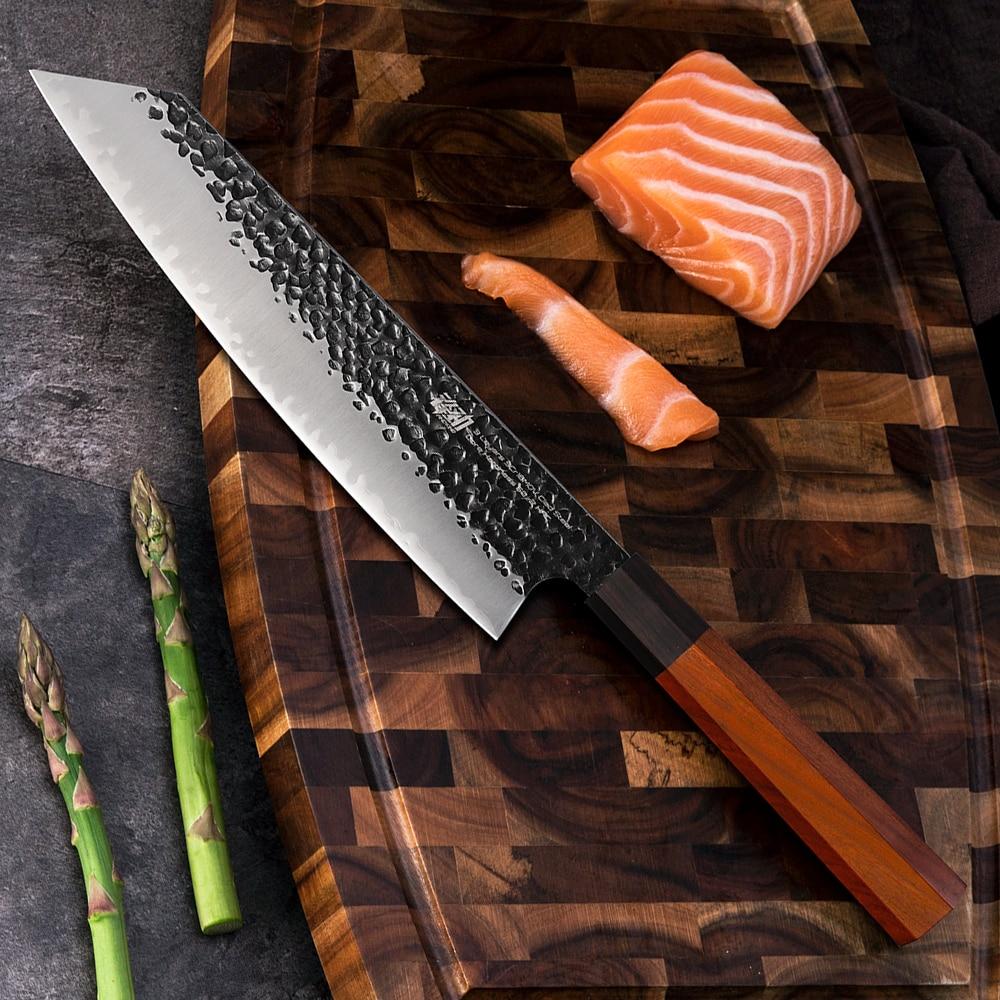 Findking 9 بوصة Kiritsuke سكين 3 طبقة 9CR18MOV يرتدون الصلب w/المثمن مقبض Gyuto سكاكين المطبخ الشيف برو أدوات sharp شفرة