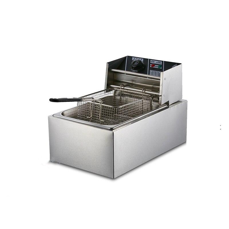 2500 واط ضغط المقلاة 220 فولت المنزلية اسطوانة واحدة البطاطا أجنحة دجاج والدجاج الهواء المقلاة معدات المطبخ 5. 5L