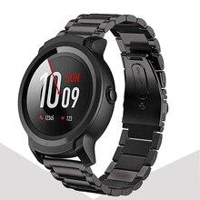 Ремешок для часов из нержавеющей стали, быстросъемный ремешок для часов Ticwatch Pro / E2 / S2 / Samsung galaxy watch 46 мм/Gear S3