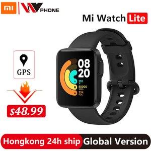 Xiaomi Mi Watch Lite GPS Fitness Heart Rate Monitor Tracker 1.4inch Alarm Clock Redmi Smart Watch Wristband Global Version