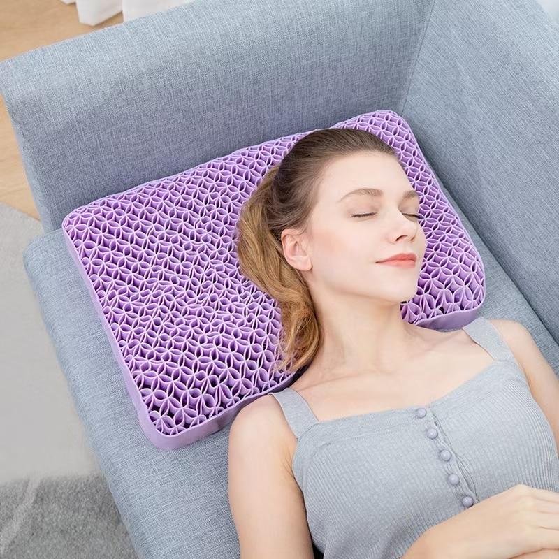 وسادة جل لتقويم العظام ، متعددة الوظائف ، بدون ضغط ، TPE ، مرونة عالية ، تصحيح آلام الرقبة ، تدليك الذاكرة ، وسادة النوم ، جديد