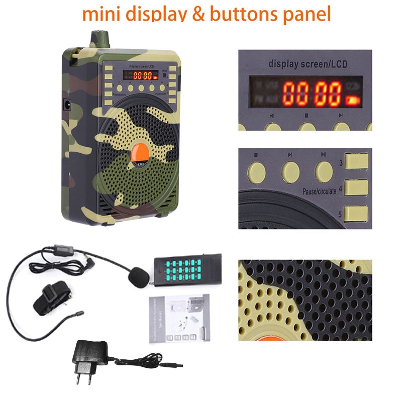 Portable Electronic Bird Caller Hunting Decoy Calls MP3 Speaker Remote Controller Kit Wireless Hunting Player enlarge