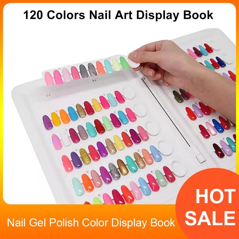 كتاب عرض ألوان طلاء الأظافر الجل ، 120 لونًا ، مخطط ألوان طلاء الأظافر ، جل الأشعة فوق البنفسجية ، بطاقة اللون ، أدوات صالون الأظافر