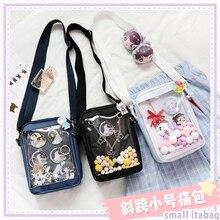 Harajuku Kawaii Transparent Itabag Mini sac à bandoulière japonais Lolita sac à bandoulière Anime Cosplay Badge poupée fenêtre spectacle