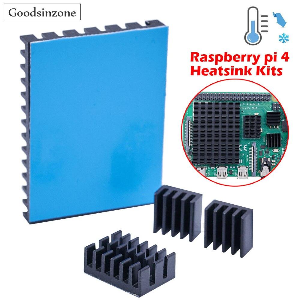 4 шт./лот, радиатор для Raspberry Pi 4 b, радиатор для Raspberry Pi, алюминиевый радиатор с термолентой для Raspberry Pi 4 Model B