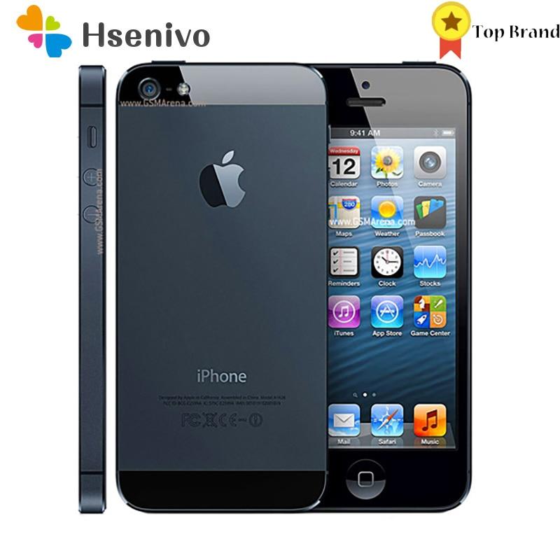 Apple Iphone 5 Used  (95% New )-Original Unlocked Iphone 5 Cell phone 16GB 32GB ROM 16GB 32GB 64GB IOS 4.0 inch 8MP WIFI GPS