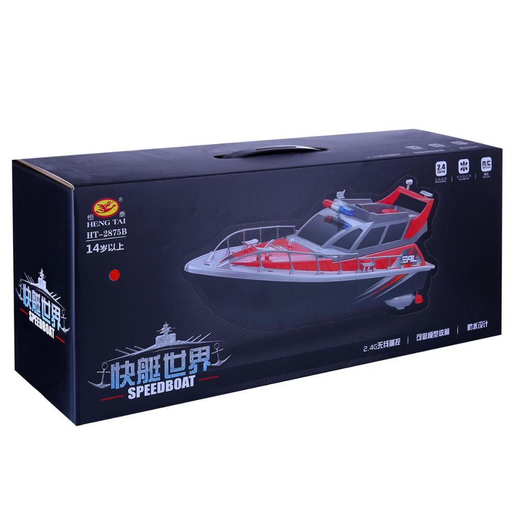 1:20 4CH Rc Remote Control Police Boat Patrol Craft Model Toy Children Kids Christmas Gifts 2019   - Red US Plug enlarge