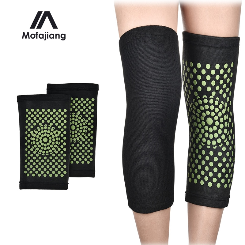 1 Pair Self Heating Knee Pads Moxa Therapy Kneepad Pain Relief Arthritis Brace Support Patella Knee Pads Knee Sleeve Health Care hanriver electric heating moxa spontaneous hot tsao apply to protect the knee joints physical therapy product package