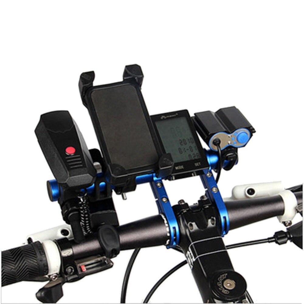 Extensor de tubo de carbono de 20CM para manillar de bicicleta, soporte de faro para bicicleta de montaña MTB, accesorio soporte para lámpara y linterna