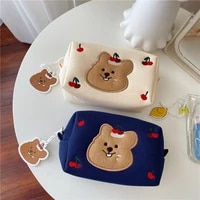 2021 korea fashion cosmetic make up storage bag for women girls korean cherry koala makeup bags student cartoon pencil pen bags