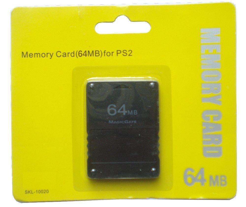 Nueva tarjeta de memoria de 64 MB y 64 MB para juego de consola 2 PS2