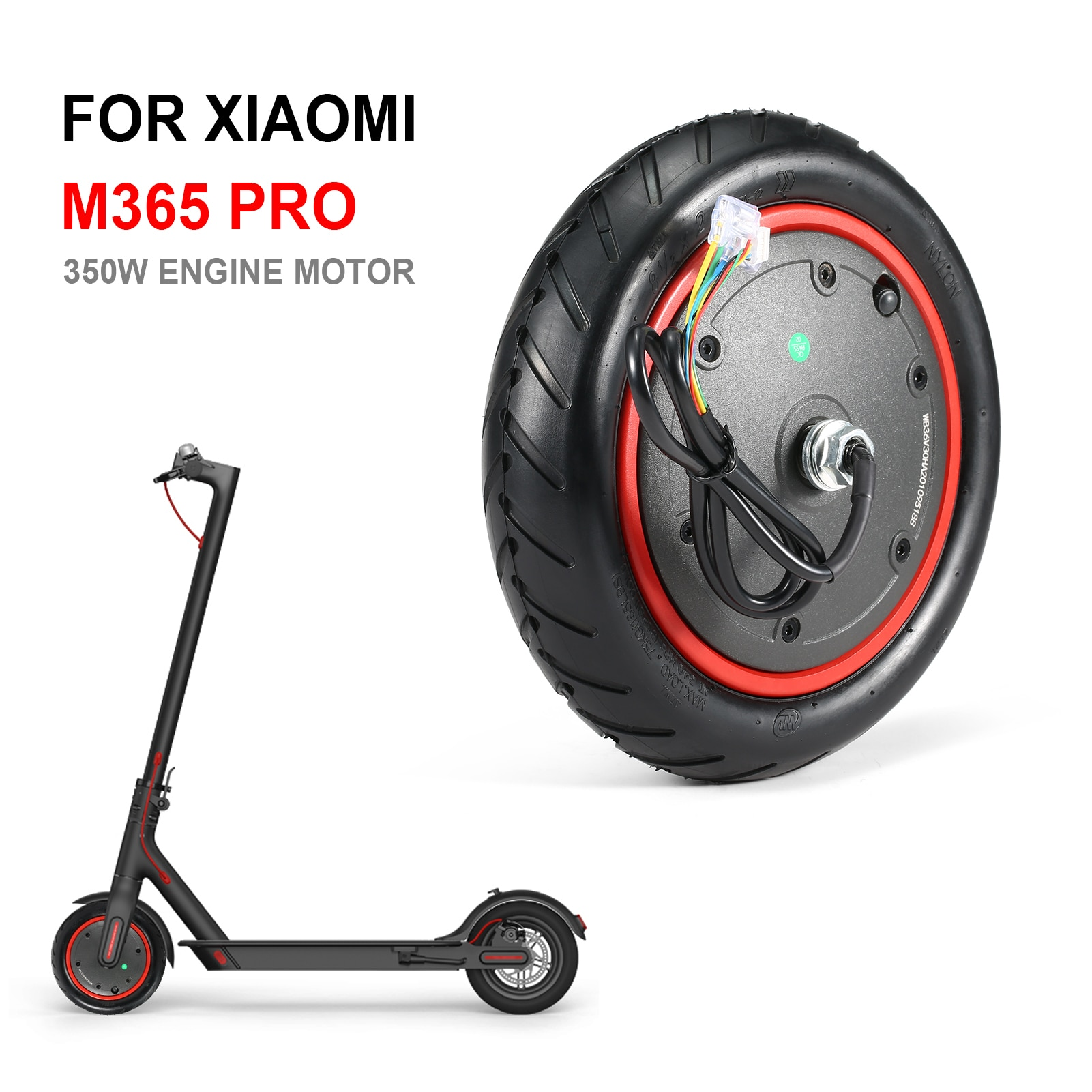 350W Wheel Engine Motor For Xiaomi M365 M365 Pro Electric Scooter 8.9 Inch Wheel Replacement Parts S