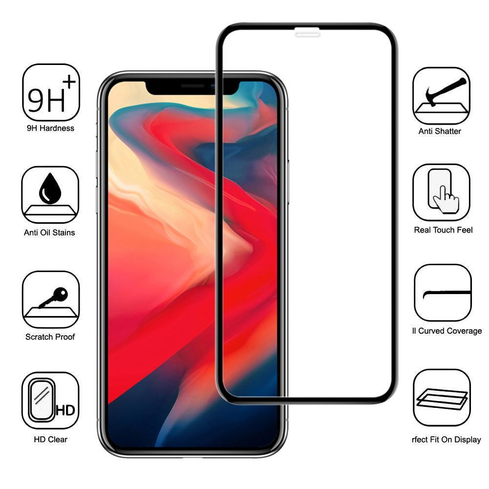 10D Full Cover Tempered Glass Phone Screen Protector Film for iPhone 11 Pro Max Accessories For Mobi