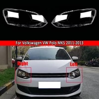 car headlamp cover auto shell cover for volkswagen vw polo mk5 2011 2012 2013 headlight clear lens lampshade lampcover shade