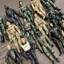 Aléatoire 5 pièces militaire le soldat ultime WWII soldat 3.75 pouces figurine articulée mobile garçon jouets cadeau de noël
