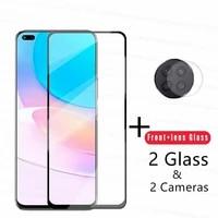 4 in 1 2 5d tempered glass for huawei nova 8i glass for hauwei nova 8i screen hd protector camera len film for nova 8i 7i 7 6 se