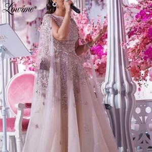 Saudi Arabia Muslim Evening Dresses Applique Beaded Long Dubai Party Dress Custom Arabic Midlle East Women Prom Dresses Robes