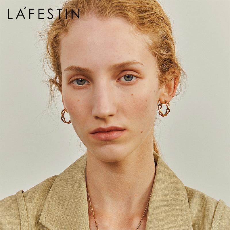 LA FESTIN Designer earrings female 2021 new trendy simple retro earrings fashion jewelry niche temperament earrings