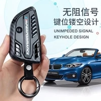 car remote key cover case key shell chain for bmw x1 x3 x4 x5 x6 1 2 5 7 series 320li 525li 530 f10 f15 f16 g30 g11 f48 f39 g01