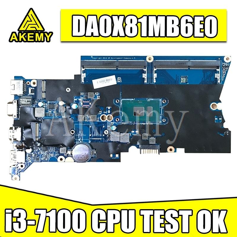 DA0X81MB6E0 X81 ل For HP ProBook 430 440 G4 اللوحة المحمول 905792-001 905792-601 100% اختبار موافق مع i3-7100u