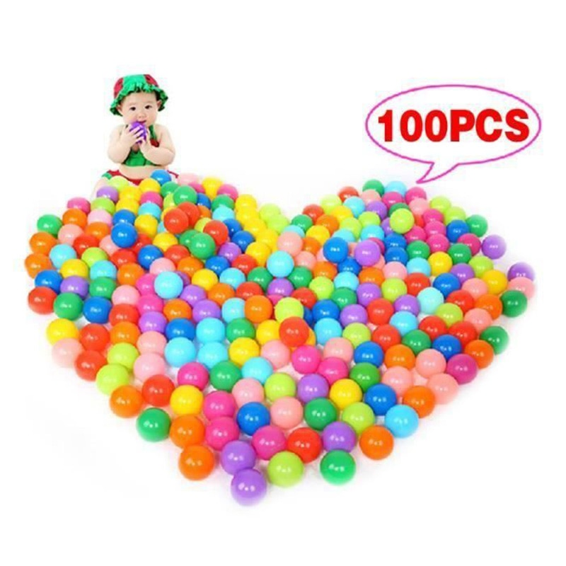 100Pcs Colorful Ball Ocean Soft Plastic Ball Ocean Ball 7-10 Colors Baby Child Swim Pit Toy Water Pool Ocean Wave Ball Dia 5.5cm
