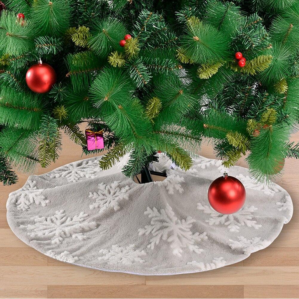 Юбка для рождественской елки, плюшевый ковер для рождественской елки, фартук для рождественской елки, украшения, декоративный коврик, новог...