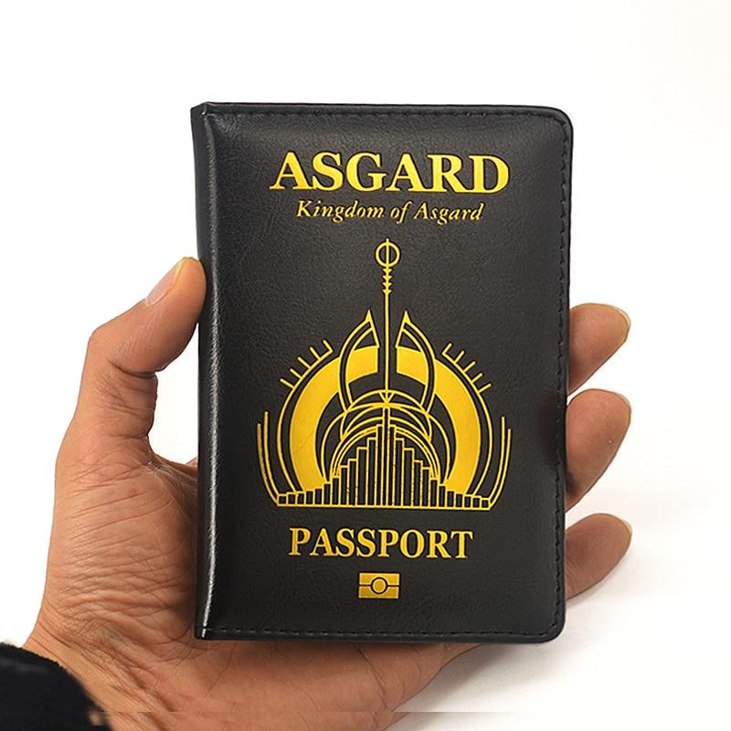 Новая обложка для паспорта Marvel The Asgard Thor Loki Asgard God of War Мстители Endgame Asgard Mini Rda Держатель для паспорта vara