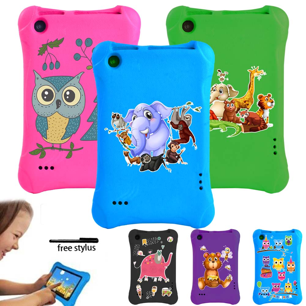 Anti-fall Anti-slip Tablet Case for Amazon Fire 7 (5/7/9th Gen) 7 Inch - Kids EVA Soft Shell Tablet Case with Cartoon Pattern