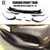 Lame de pare-choc avant en Fiber de carbone pour Benz W176 A180 A200 A220 A45 avec emballage Amg 16 17 18