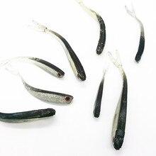 10 pièces 8cm/2g appâts de pêche en caoutchouc souple leurre Drop Shot leurre Shad pour perche brochet truite queue leurre accessoires de pêche