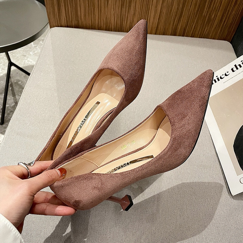 Luxury Women Pumps 2021 High Heels Basic Casaul Sexy Pointed Toe Slip-on Wedding Party Brand Fashion Shoes For Mother's Day Gift