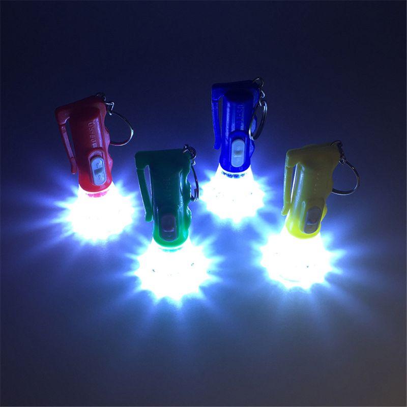 Llavero con luz LED y minilinterna, juguete de fiesta que facilita a los niños juguete para regalo bolso de artilugios colgante 72XC