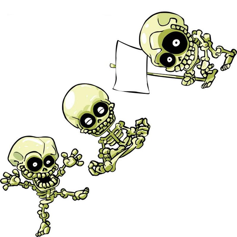 23*8cm divertido cráneo vinilo calcomanías Adhesivos para coche kungfú chino esqueleto de la motocicleta Decoración Accesorios de Auto