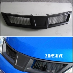 Use For Nissan Versa 2007--2010 Year Carbon Fibre Refitt Front Center Racing Grille Cover Accessorie Body Kit Zonsuve