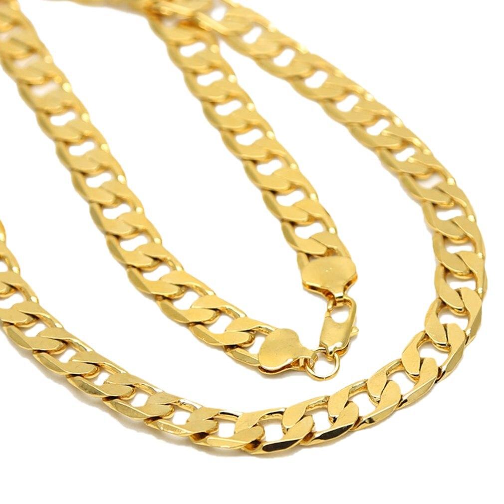 Панк Хип кубинские звенья Золотая цепь мужские ожерелья рэпера популярная уличная мода металлическая цепь длинная декоративная бижутерия ...