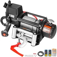 vevor 17000lbs electric winch 12v truck winch compatible with jeep truck suv 85ft26m cable with wireless remote control
